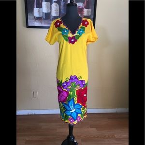 Floral embroidered dress from Mexico